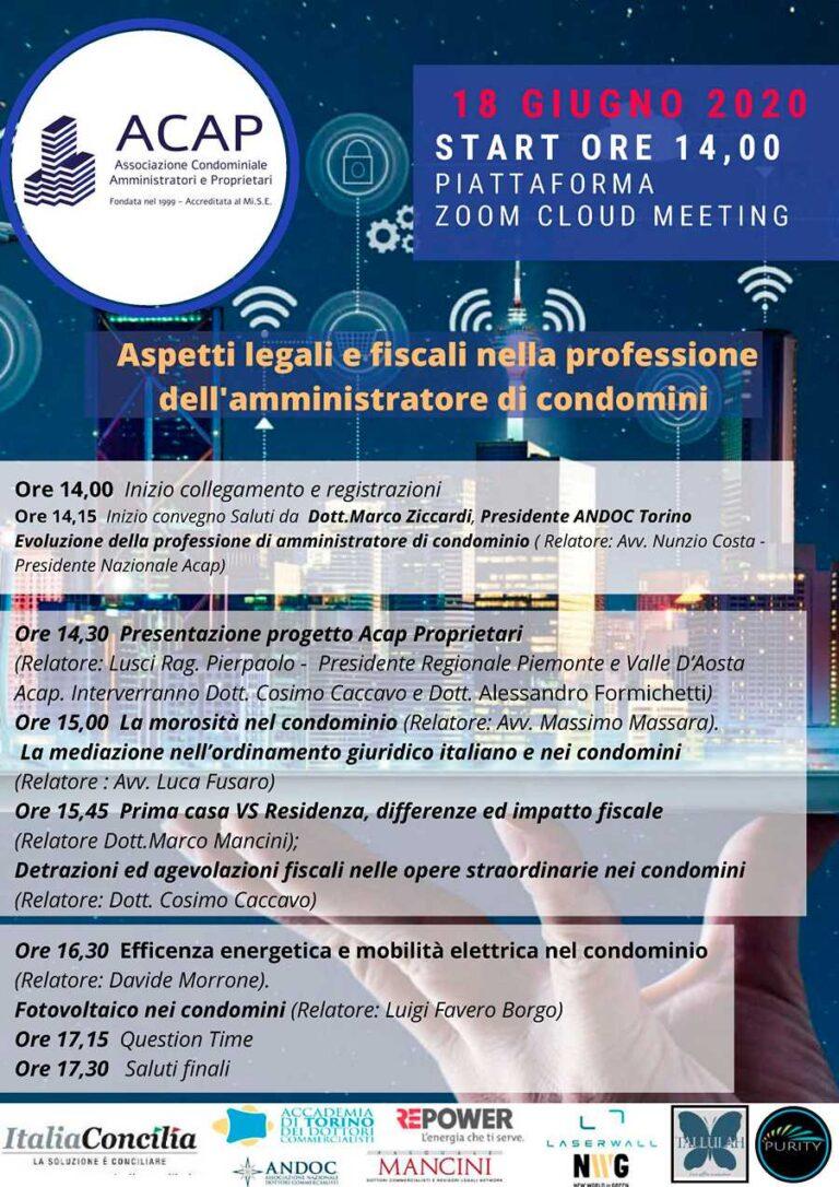 Locandina webinar ACAP Piemonte